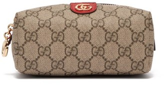 Gucci Ophidia Gg Supreme Canvas Cosmetics Case - Womens - Grey Multi