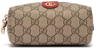 Gucci Ophidia Gg Supreme Canvas Cosmetics Case - Womens - Grey Multi