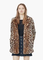 Mango Outlet Leopard Faux-Fur Coat