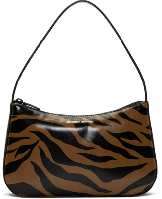 Kwaidan Editions Brown and Black Tiger Lady Bag