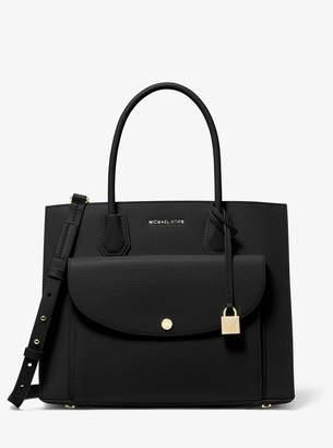 MICHAEL Michael Kors Mercer Large Pebbled Leather Pocket Tote Bag