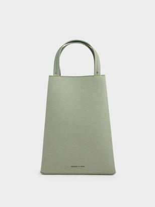 Charles & Keith Elongated Felt Top Handle Bag