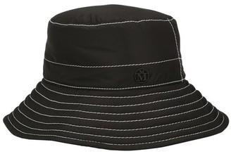 Maison Michel Charlotte topstitched nylon hat