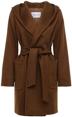 Max Mara Rialto Hooded Camel Coat