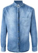 Brunello Cucinelli stonewashed denim shirt - men - Cotton - L