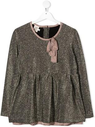 Caffe' D'orzo TEEN peplum glitter blouse