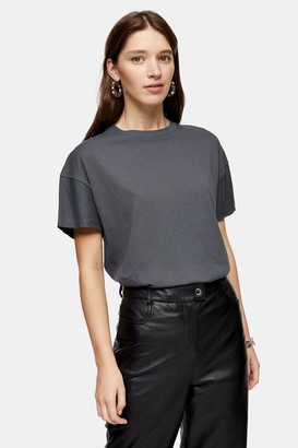 Topshop Weekend T-Shirt in Charcoal Grey