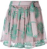 Ann Demeulemeester plants motif embroidered shorts - women - Silk/Cotton - 36