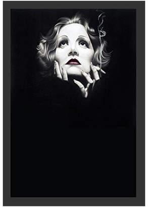 "Karl Lagerfeld Paris Buyartforless Framed, Marlene Dietrich 1932 by Black, 18""x12"""