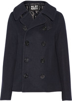 Nlst Double-breasted wool-blend peacoat