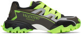 Valentino Black and Yellow Climbers Sneakers