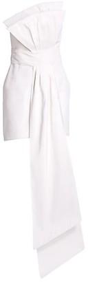 Alexia Maria Estelle Front-Drape Silk Mini Sheath Dress