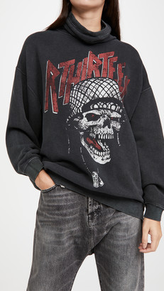 R 13 #MaskUp Battle Punk Vintage Fleece Crew Sweatshirt
