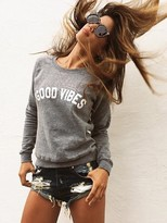 Sub Urban Riot Suburban Riot Good Vibes Unisex Sweatshirt in Heather Grey as seen on Rocky Barnes