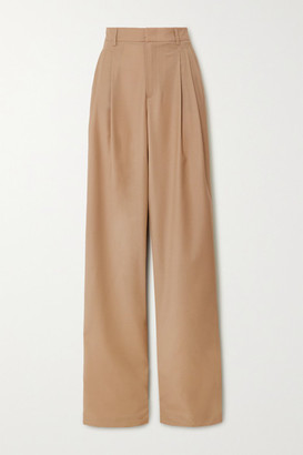 Paul & Joe Pleated Wool-blend Wide-leg Pants - Camel