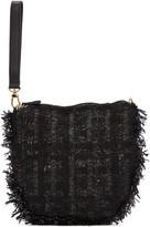 Simone Rocha Black Tweed Clutch