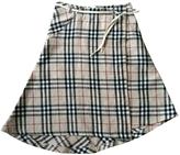 Burberry Beige Linen Skirt