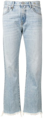 R 13 Frayed Hem Jeans
