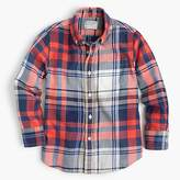 J.Crew Kids' lightweight flannel shirt in poppy plaid