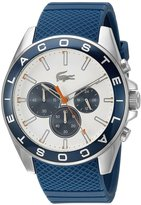 Lacoste Men's 45mm Blue Silicone Band Steel Case Quartz White Dial Chronograph Watch 2010854
