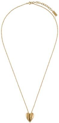 Saint Laurent Heart-Shaped Cowrie Shell Necklace
