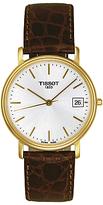 Tissot T52541131 Desire Date Leather Strap Watch, Dark Brown/white