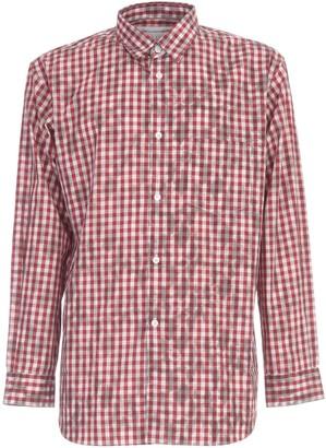Comme des Garçons Shirt Cotton Gingham On Hand Lace Stencil Print Shirt
