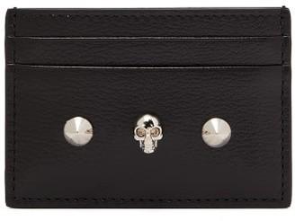 Alexander McQueen Skull-embellished Leather Cardholder - Black Multi