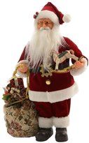 Decoris Velvet Santa Figurine with Bag of Toys
