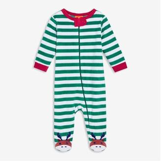 Joe Fresh Baby Boys' Zip-Front Fleece Sleeper, White (Size 6-12)