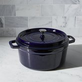 Crate & Barrel Staub 5.5-Qt Round Dark Blue Cocotte