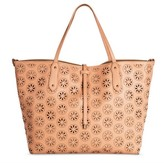 Under One Sky Women's Laser Cut Tote Handbag