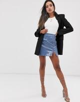 Fashion Union a-line mini skirt in pu