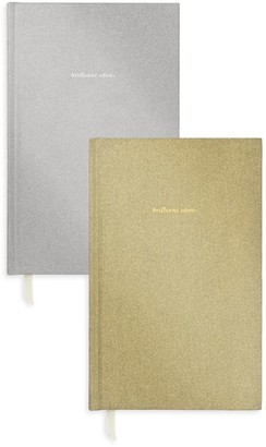 Kate Spade Set Of Two Glitter Journals