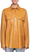 The Row Nopa Lambskin Leather Shirt