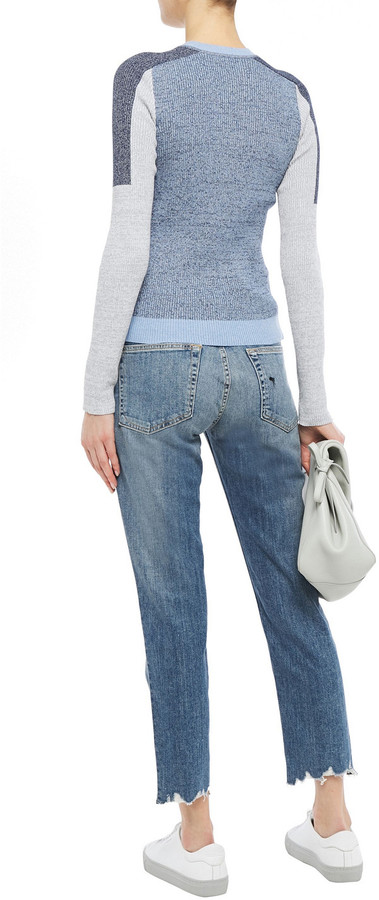 Thumbnail for your product : Rag & Bone Dre Cropped Distressed Faded Boyfriend Jeans