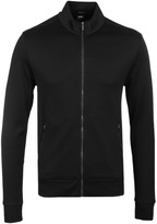 Boss Sommers Black Jersey Zip Through Sweatshirt