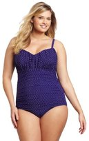Miraclesuit Women's Plus-Size Pin Point Rialto One Piece Swimsuit