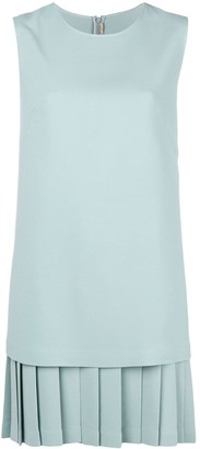 Ermanno Scervino Pleated-Hem Shift Dress