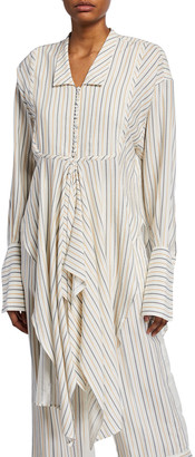 J.W.Anderson Striped Handkerchief Button-Front Shirt