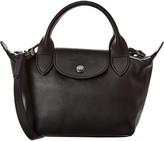 Longchamp Le Pliage Cuir Mini Leather Short Handle Shoulder Bag