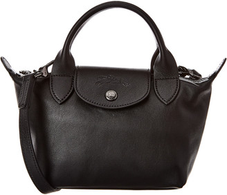 Longchamp Le Pliage Cuir Mini Leather Short Handle Tote