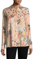 Love Moschino Women's Rocket Print Blouse