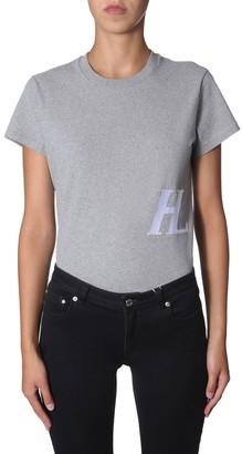 Helmut Lang Logo Print Crewneck T-Shirt