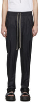 Rick Owens Black Drawstring Long Track Pants