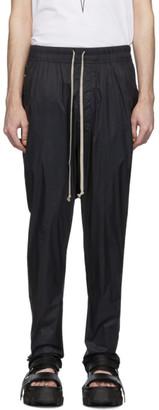 Rick Owens Black Drawstring Long Track Pants