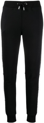 Philipp Plein Crystal Embellished Track Trousers
