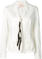 Romeo Gigli Pre Owned lace-up fitted blazer