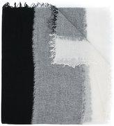 Yohji Yamamoto contrast panel scarf