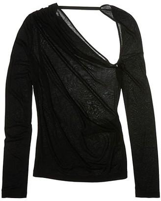 Helmut Lang Asymmetrical Long-Sleeve Jersey Top